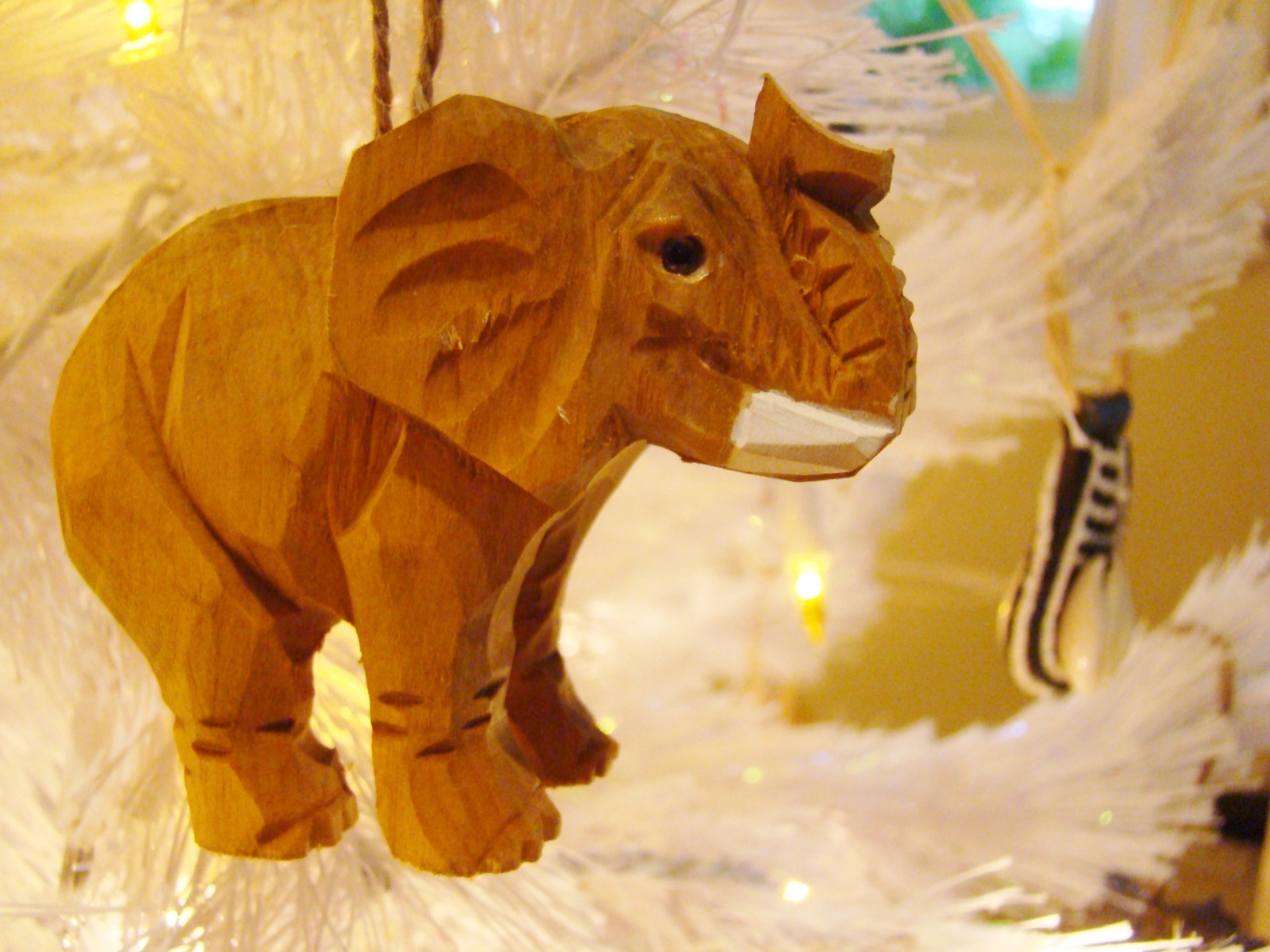 Fiorito Interior Design, interior design, Homes For The Holidays, African, holiday tree, carved wooden elephant ornament